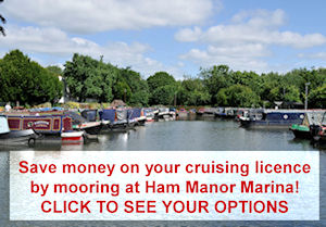 Save on your cruising license at Ham Manor Marina.